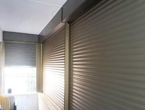 חלונות אלומיניום עם תריס חשמלי